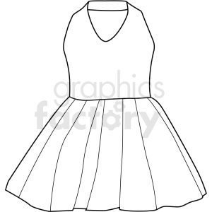 black white girls prom dress vector clipart clipart. Commercial use image # 411683