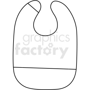 black white bib icon vector clipart clipart. Royalty-free image # 411694