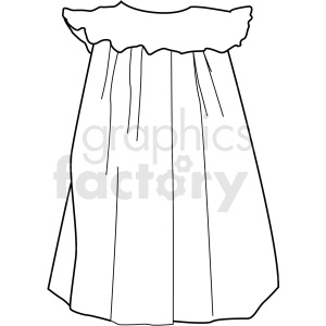 black white girls nightgown vector clipart