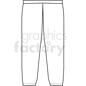 black white joggers icon vector clipart clipart. Royalty-free image # 411717
