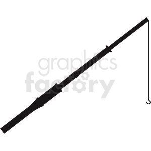 fishing pole vector clipart clipart. Commercial use image # 411828