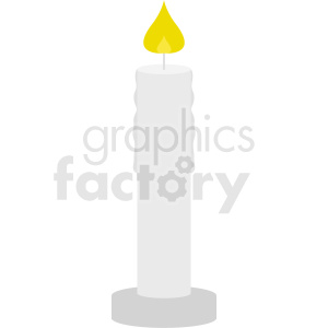 lit candle vector clipart clipart. Royalty-free image # 411838