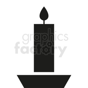candle vector design clipart. Royalty-free image # 411859