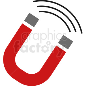 magnet vector icon clipart. Commercial use image # 411927