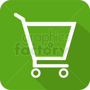 green shopping cart icon clipart. Royalty-free image # 411977