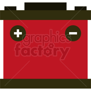 red car battery vector clipart clipart. Royalty-free image # 412000