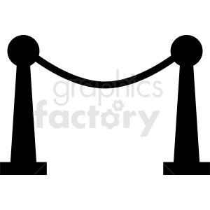 cinema ropes vector icon clipart. Royalty-free image # 412009