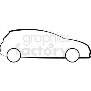 vector car outline clipart clipart. Royalty-free image # 412023