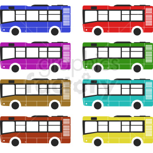 set of buses clipart clipart. Royalty-free image # 412033