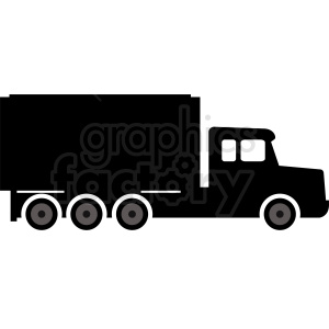 vector cargo truck clipart. Royalty-free image # 412052