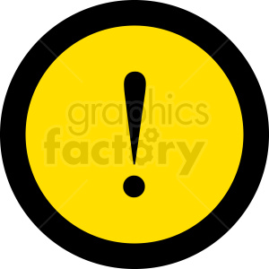 circle warning sign vector clipart. Commercial use image # 412061