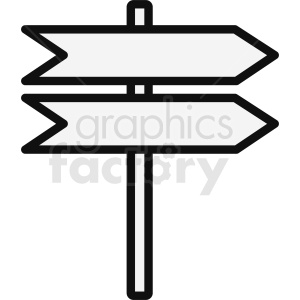 path sign outline vector clipart. Commercial use image # 412074