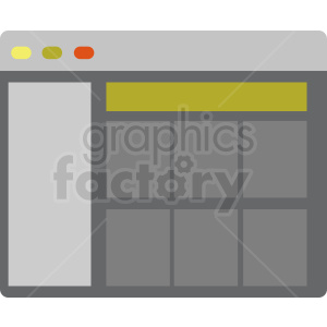 browser window flat vector icon clipart. Royalty-free image # 412103