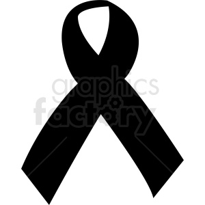 black ribbon vector graphic design clipart. Commercial use image # 412119