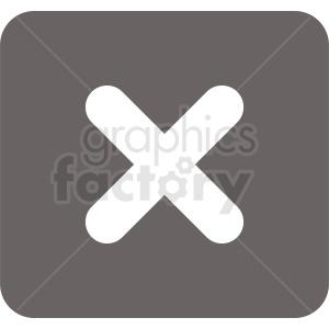 close button vecor icon clipart. Commercial use image # 412120