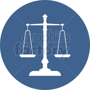 scale of justice vector clipart icon clipart. Royalty-free icon # 412130