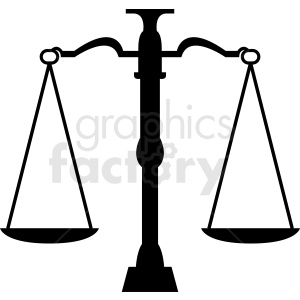 justice scale of law vector clipart. Commercial use image # 412137