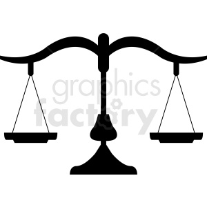scales of justice vector design clipart. Commercial use image # 412148