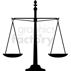 scales of justice vector clipart clipart. Royalty-free image # 412150