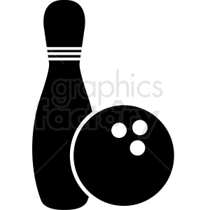 bowling pin and ball clipart. Commercial use image # 412163