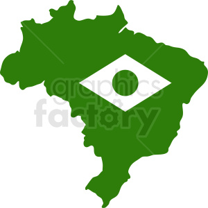 Brazil country with flag design clipart. Royalty-free image # 412173