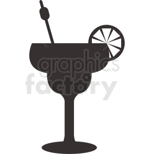 cocktail drink vector silhouette clipart. Royalty-free image # 412230