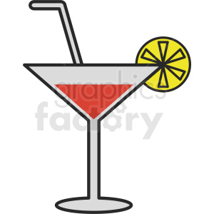martini vector design clipart. Royalty-free image # 412240