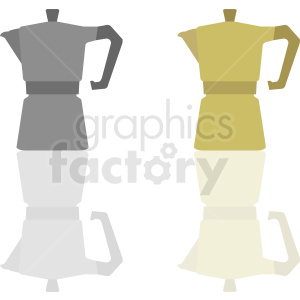 coffee pot vector icons clipart. Royalty-free image # 412256
