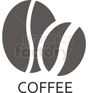 the coffee bean logo vector clipart. Commercial use image # 412260