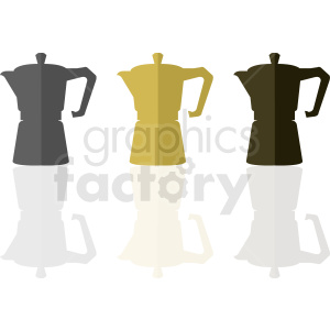 coffee pot vector designs clipart. Royalty-free image # 412268