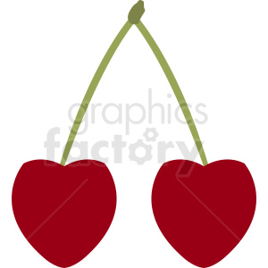 cherry vector clipart clipart. Royalty-free image # 412271