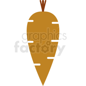 cartoon carrot vector icon design clipart. Royalty-free image # 412277
