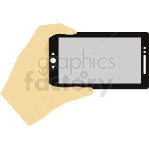 hand holding phone as camera clipart. Royalty-free image # 412300