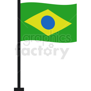 brazil vector flag icon clipart. Commercial use image # 412314