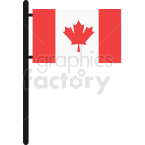 Canadian flag icon design clipart. Commercial use image # 412327