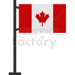 Canadian flag vector icon clipart. Commercial use image # 412338
