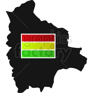 bolivia country flag icon clipart. Royalty-free image # 412361