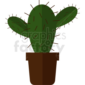 cartoon cactus vector clipart. Royalty-free image # 412376