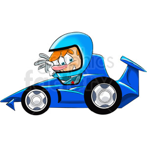 cartoon race car driver clipart. Royalty-free image # 412446