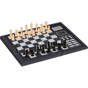 digital chess board vector clipart clipart. Commercial use image # 412478