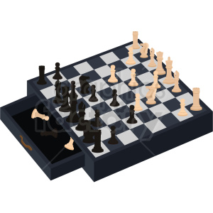 chess board vector clipart clipart. Royalty-free image # 412495