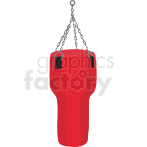boxing bag vector clipart clipart. Commercial use image # 412506