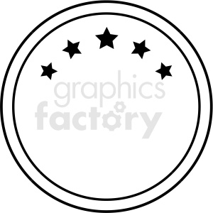 circle blank logo design vector clipart clipart. Royalty-free image # 412555
