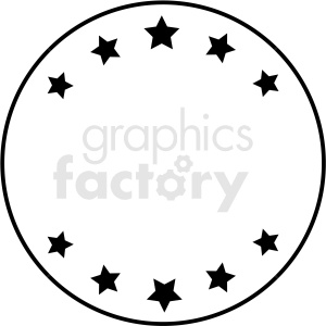 circle star badge vector asset clipart. Royalty-free image # 412556