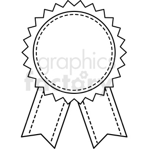 blank prize ribbon template design vector clipart. Commercial use image # 412569