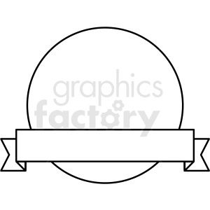 ribbon over circle design vector clipart clipart. Commercial use image # 412583