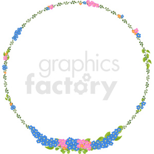 floral border vector clipart clipart. Commercial use image # 412625
