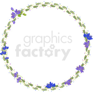 floral frame vector clipart clipart. Commercial use image # 412629