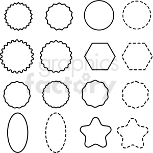 shapes panel overlay template vector clipart clipart. Royalty-free image # 412659