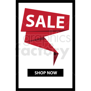 sale shop now notification banner with black border icon vector clipart clipart. Royalty-free image # 412671